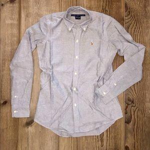 Ralph Lauren Sport Slim Fit Oxford - Gray